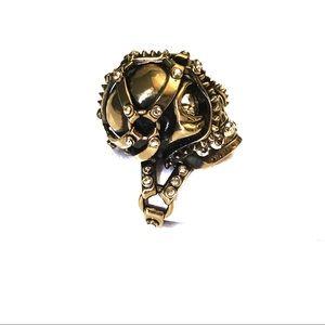 Alexander McQueen Crystal Skull ring